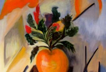 Pomme en fleur
